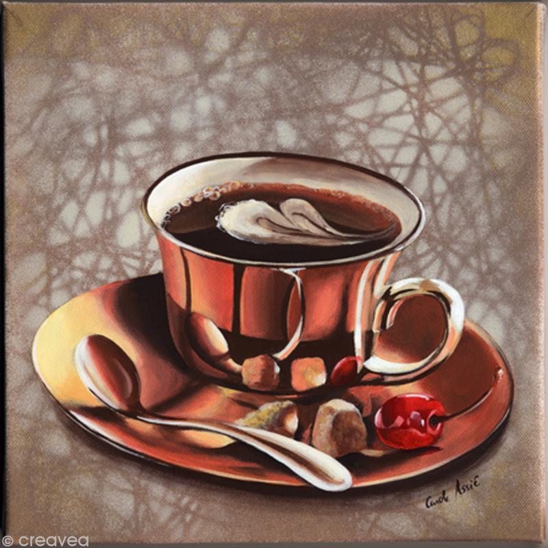 image 3d scrap tasse caf 30 x 30 cm images 3d 30x30 cm creavea. Black Bedroom Furniture Sets. Home Design Ideas