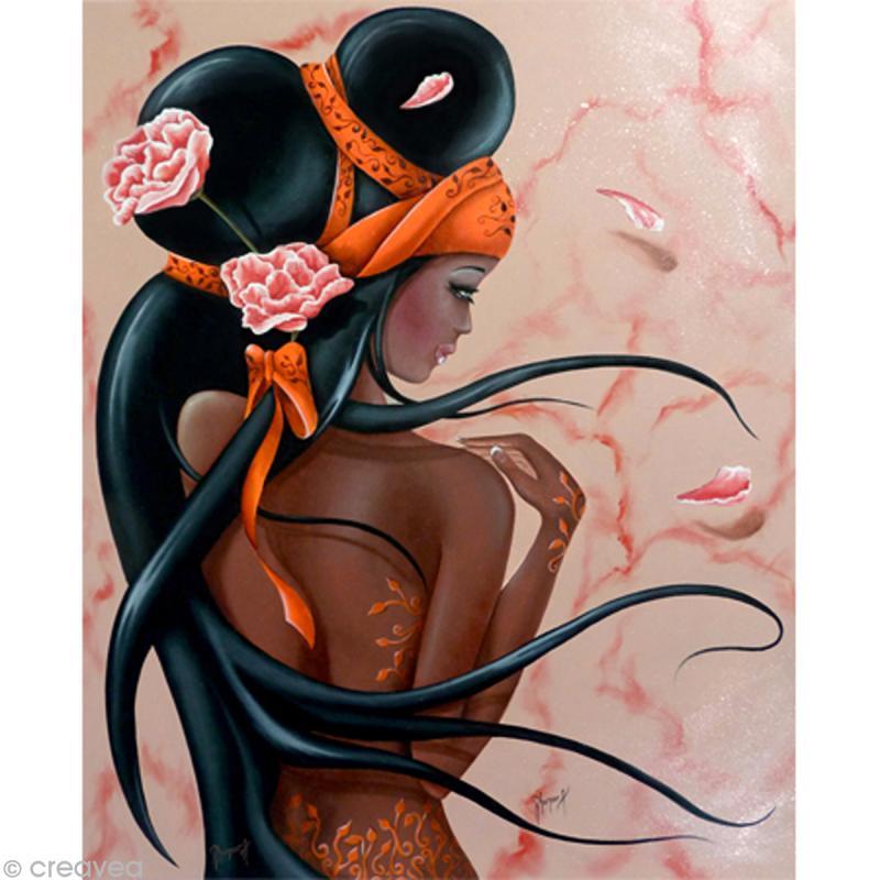 Image 3D Femme - Lilou black 40 x 50 cm - Photo n°1