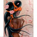 Image 3D Femme - Lilou black 40 x 50 cm