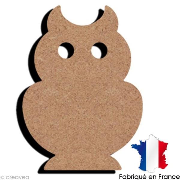 Chouette en bois à décorer - 10,5 x 7,5 cm - Photo n°1