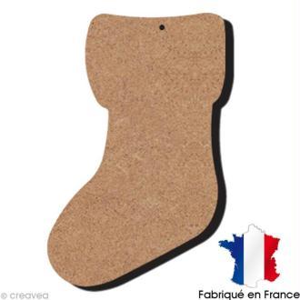 Chaussette en bois à décorer - 15 x 8 cm