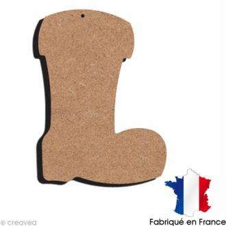Botte en bois à décorer - 15 x 10,3 cm
