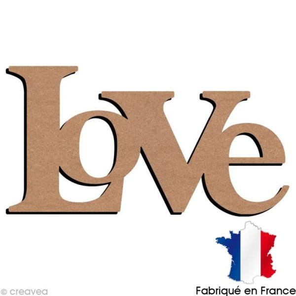 Mot Love en bois à décorer - 56 x 29 cm - Photo n°1