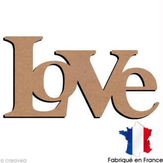 Mot Love en bois à décorer - 56 x 29 cm