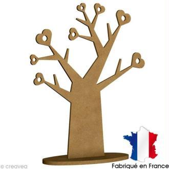 Porte bijoux Arbre en bois à décorer - 58 x 38 cm