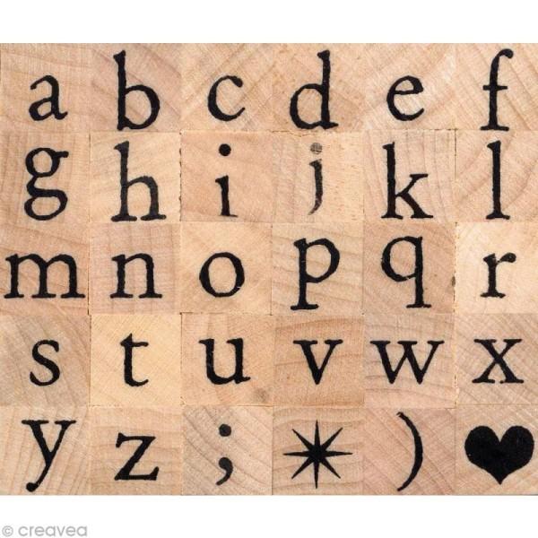 Tampon alphabet Artemio antique minuscule 1 cm - Photo n°1