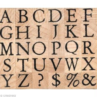 Tampon alphabet Artemio antique majuscule 1 cm
