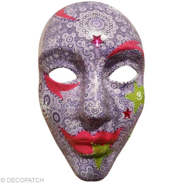 Masque intégral 17 x 24 cm en papier mâché - Photo n°2
