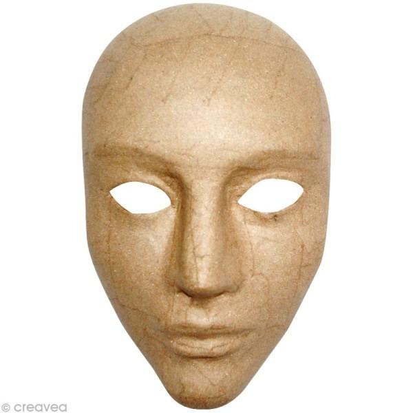 Masque intégral 17 x 24 cm en papier mâché - Photo n°1