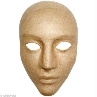 Masque intégral 17 x 24 cm en papier mâché