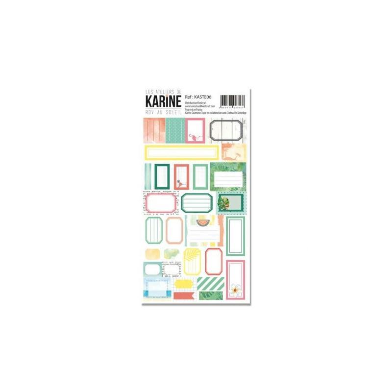 Stickers etiquettes rdv au soleil les ateliers de karine for Ateliers de cuisine