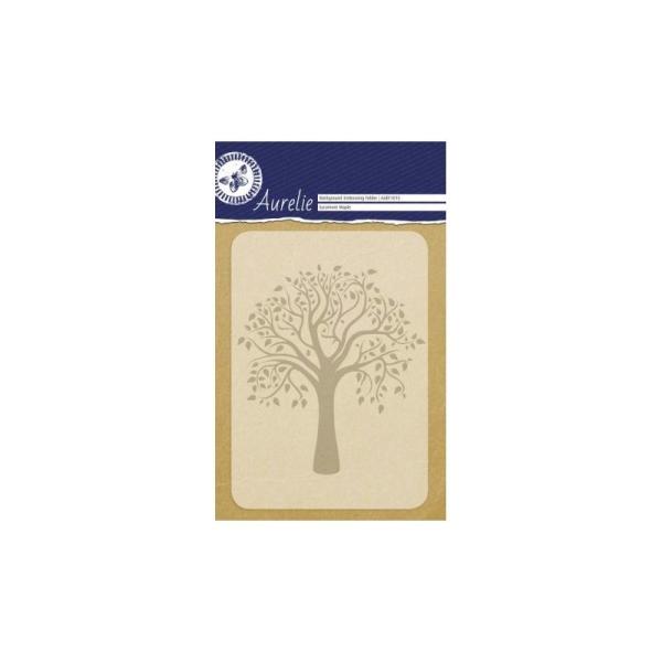 Plaque d'embossage A6 Sycamore Maple - Aurelie Background Embossing Folder - Photo n°1