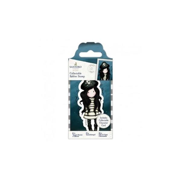 Mini tampon cling Gorjuss - No. 49 Piracy - Photo n°1