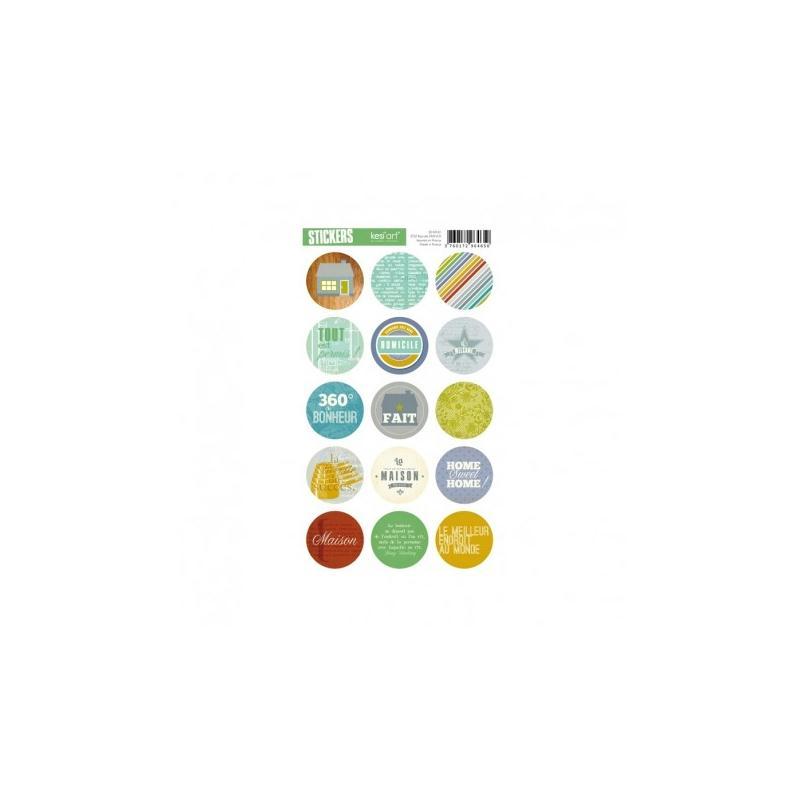 Stickers ronds recherche maison stickers fantaisie creavea for Acheter maison belgique