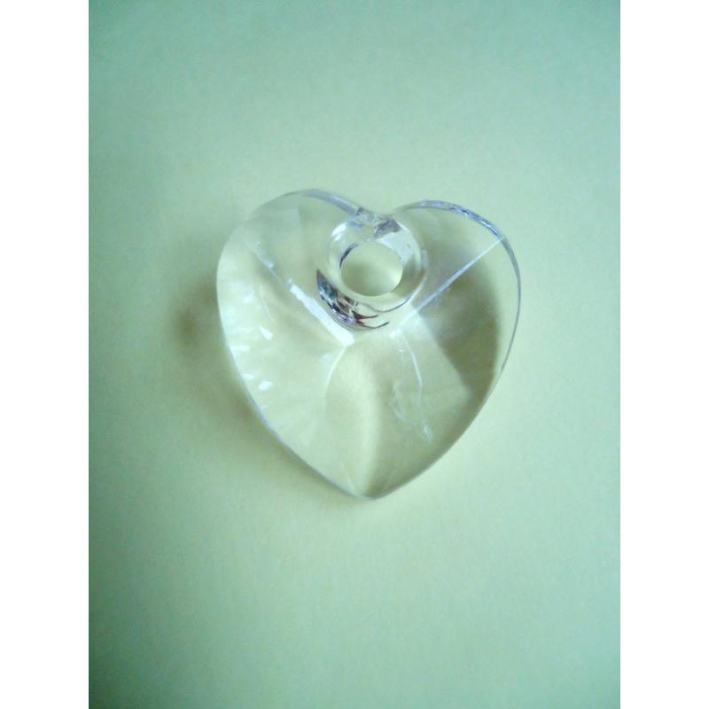 Lot 10 coeurs 28 mm transparent pour bijoux breloque for Amoure de cuisine chez soulef