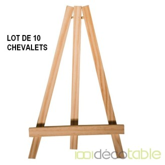 10 Chevalets en bois 25 cm Porte-menu