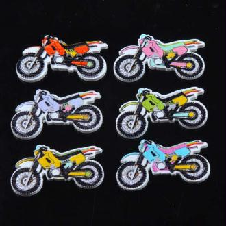 10 Boutons motos en bois peint 3 cm 2 trous