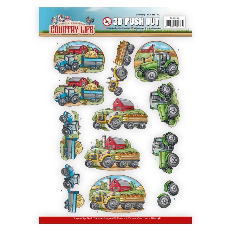 Images 3D prédécoupées Country Life - Tracteur - Photo n°1