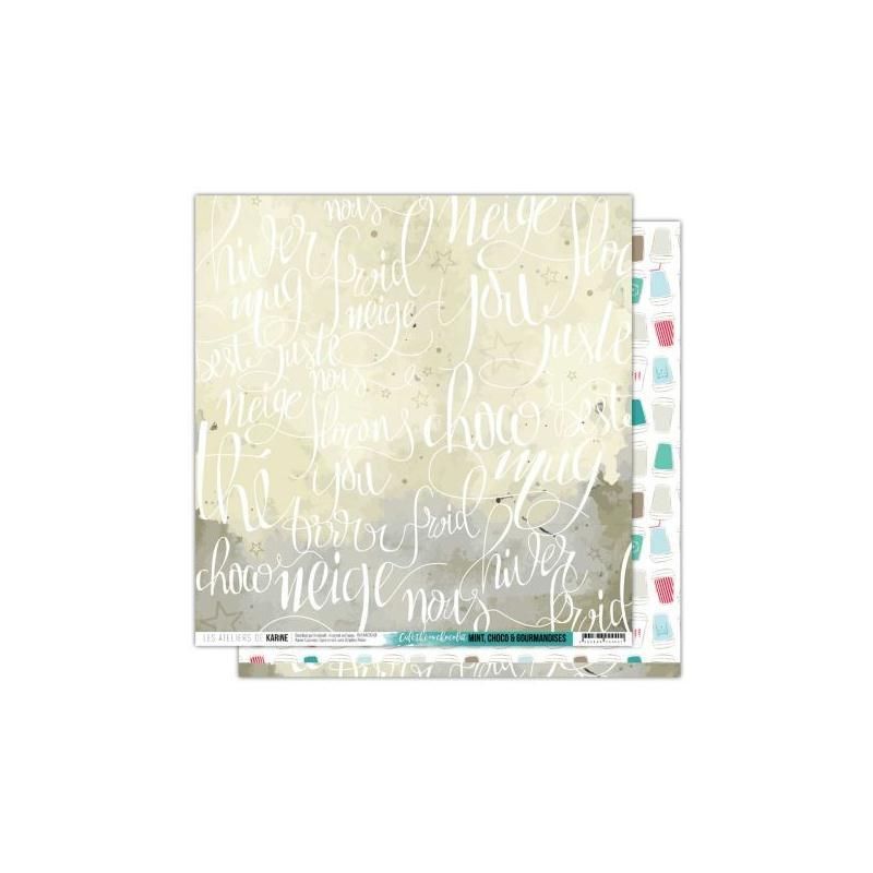 Papier scrapbooking 30x30 caf th ou chocolat mint for Atelier de cuisine bruxelles