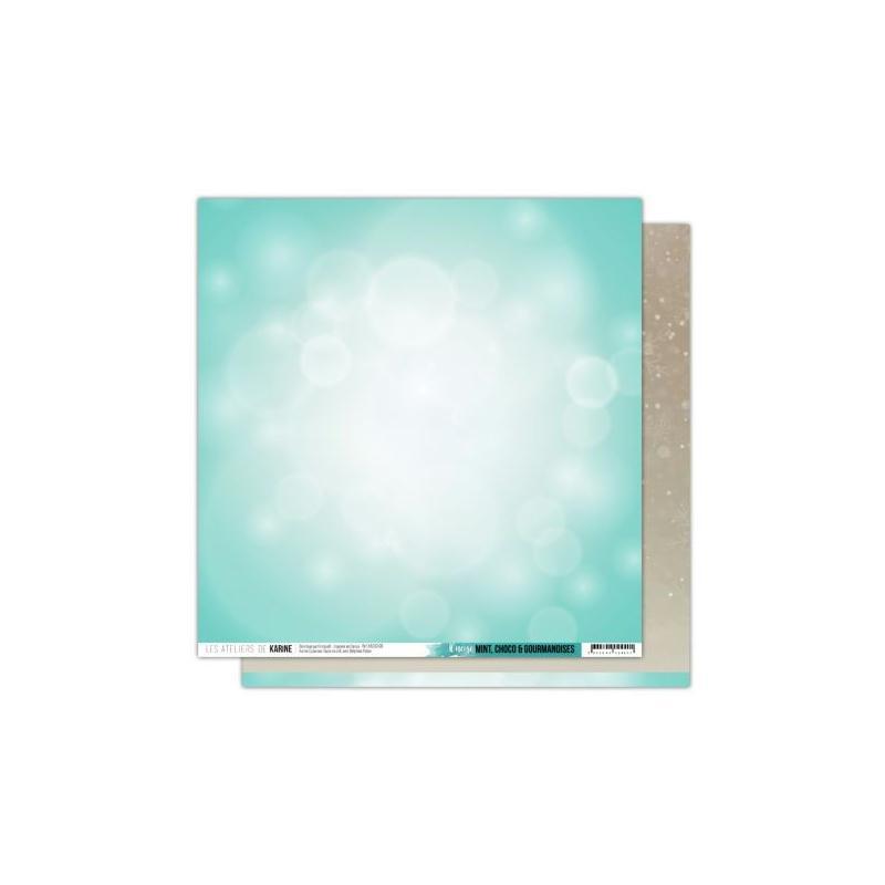 Papier scrapbooking 30x30 il neige 1 feuille mint choco for Atelier de cuisine bruxelles