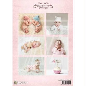 Image à découper - Sweet little baby girl - Nellie Snellen