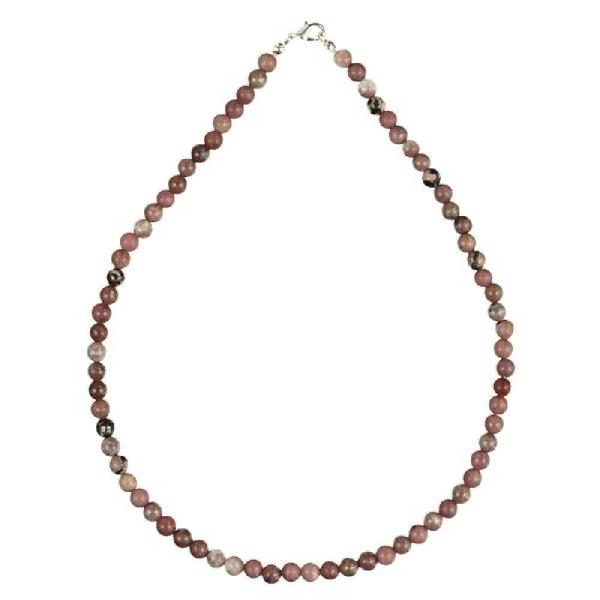 Collier en rhodonite - Perles rondes. - Photo n°1