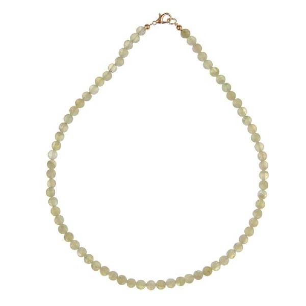 Collier en préhnite - Perles rondes. - Photo n°1