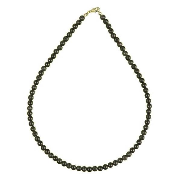Collier en obsidienne oeil célèste - Perles rondes. - Photo n°2