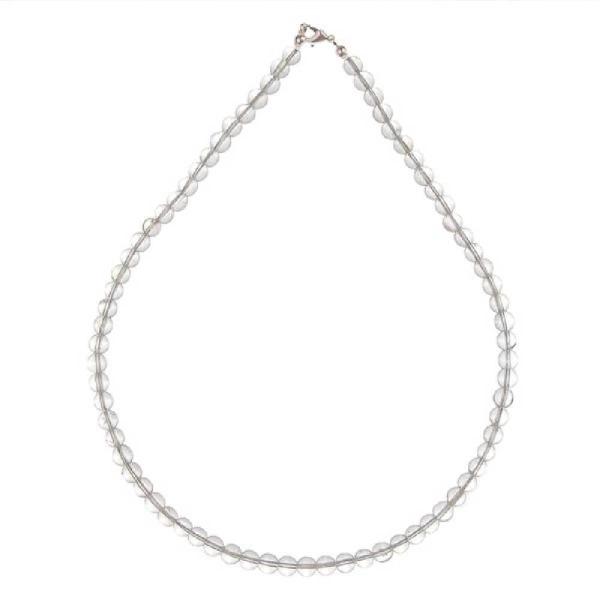 Collier en cristal de roche - Qualité extra - Perles rondes. - Photo n°2