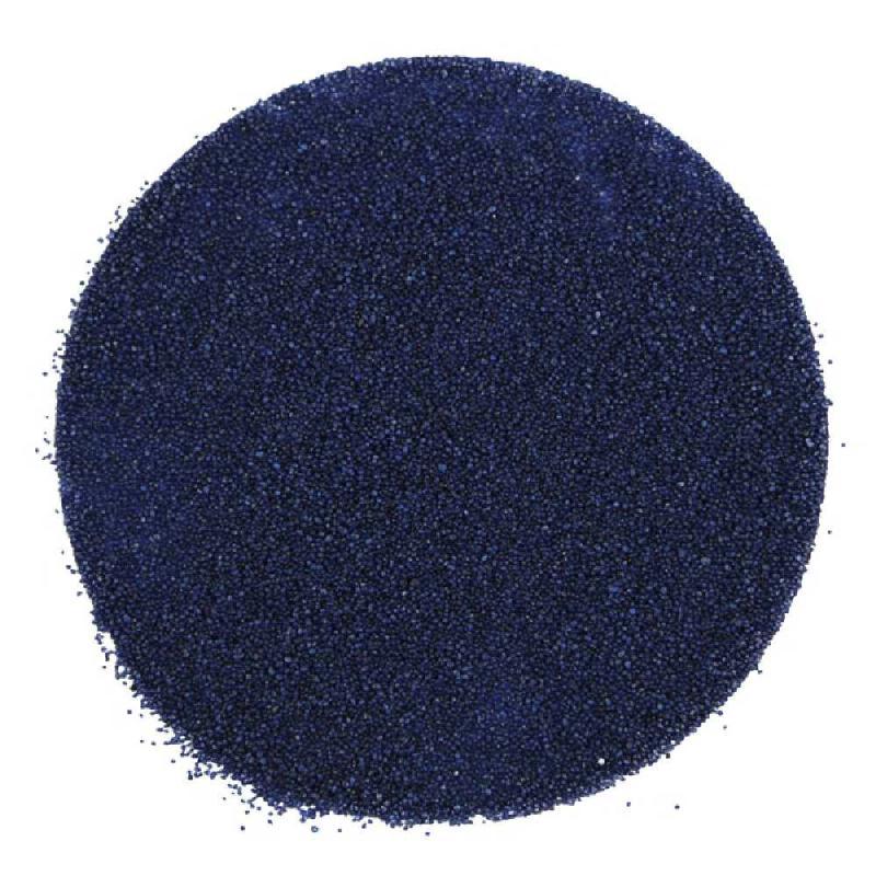 Sable décoratif coloré 0.4/0.9 mm - 400 grammes - Couleur Bleu nuit - Photo n°1