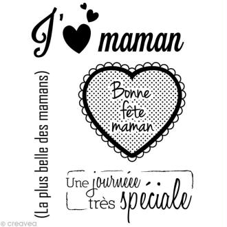 Mini tampon transparent Maman - Planche 7 x 9 cm