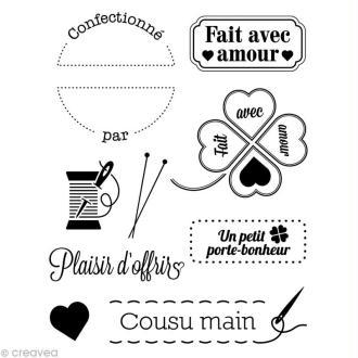 Mini tampon transparent Avec amour - Planche 7 x 9 cm