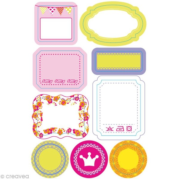 Masking Tape Stickers Girl - 9 motifs repositionnables - Photo n°1