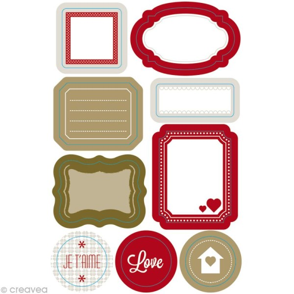Masking Tape Stickers Love - 9 motifs repositionnables - Photo n°1