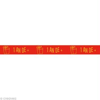 Masking tape Kids - 1 an de plus Rouge 15 mm x 10 m