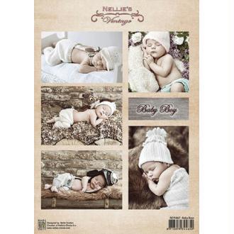 Image à découper - Baby boy - Nellie Snellen