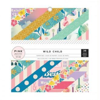 Bloc papier Pink Paislee - Wild Child Girl 15,2 x 15,2 cm - 36 feuilles