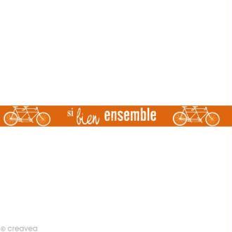 Masking tape Kids - Ensemble Orange 15 mm x 10 m
