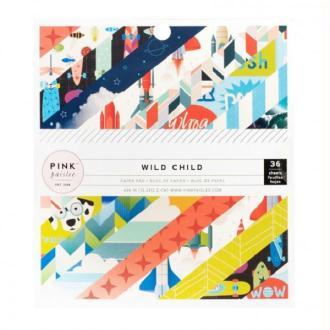 Bloc papier Pink Paislee - Wild Child Boy 15,2 x 15,2 cm - 36 feuilles