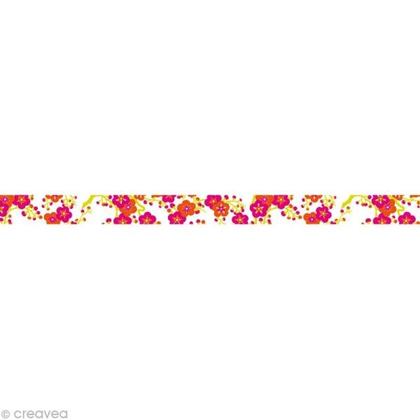 Masking tape Girl - Fleur Blanc 10 mm x 10 m - Photo n°1