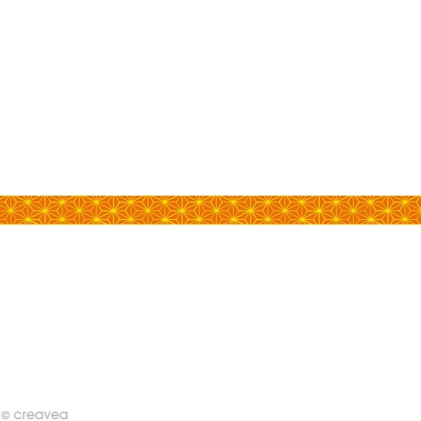 Masking tape Girl - Japon Orange 10 mm x 10 m - Photo n°1