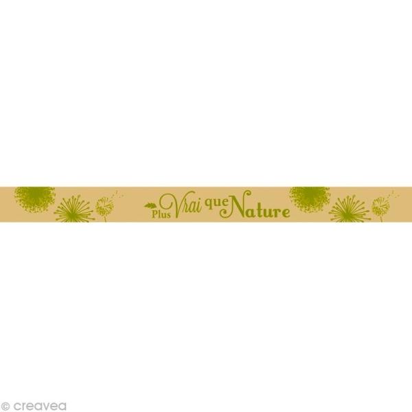 Masking tape - Plus vrai que Nature Beige 15 mm x 10 m - Photo n°1