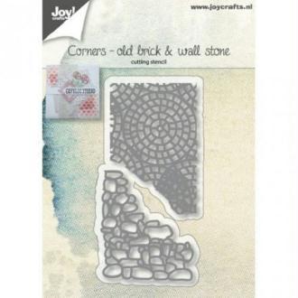 Die Joy Crafts - coins old brick et wall stone