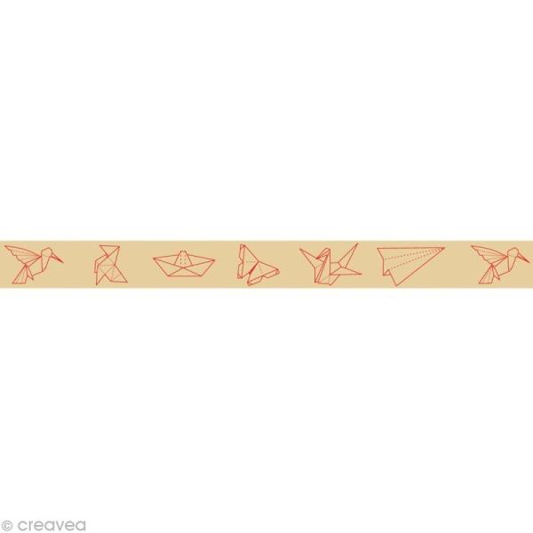 Masking tape - Origami Beige 15 mm x 10 m - Photo n°1