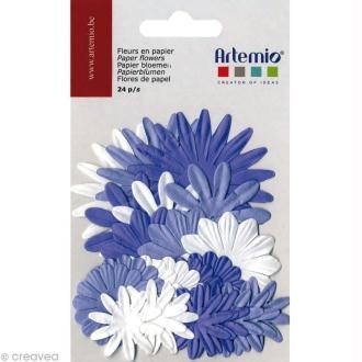 Fleurs en papier - Mix Mauve 24 pcs