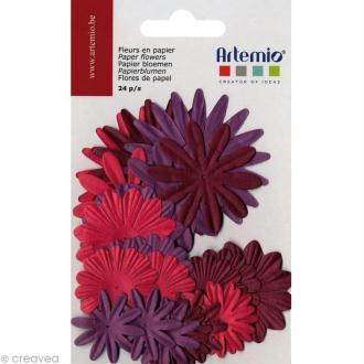 Fleurs en papier - Mix Oldies 24 pcs