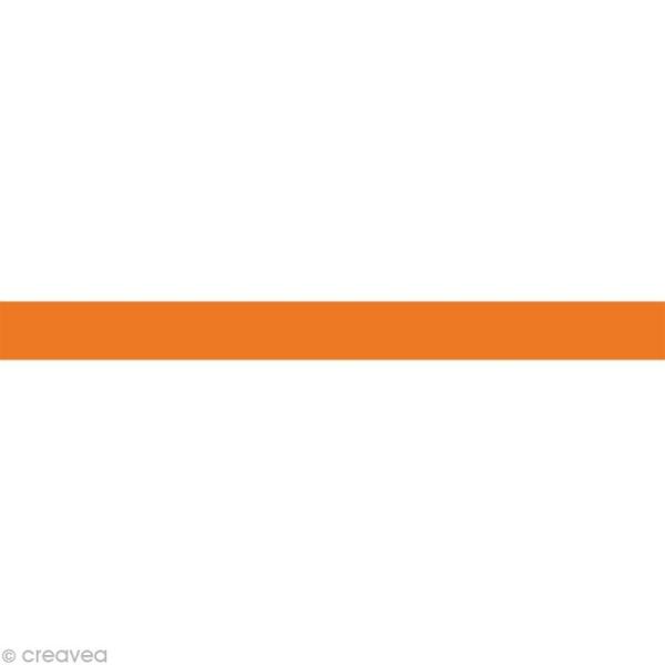 Masking tape Uni - Orange  15 mm x 10 m - Photo n°1