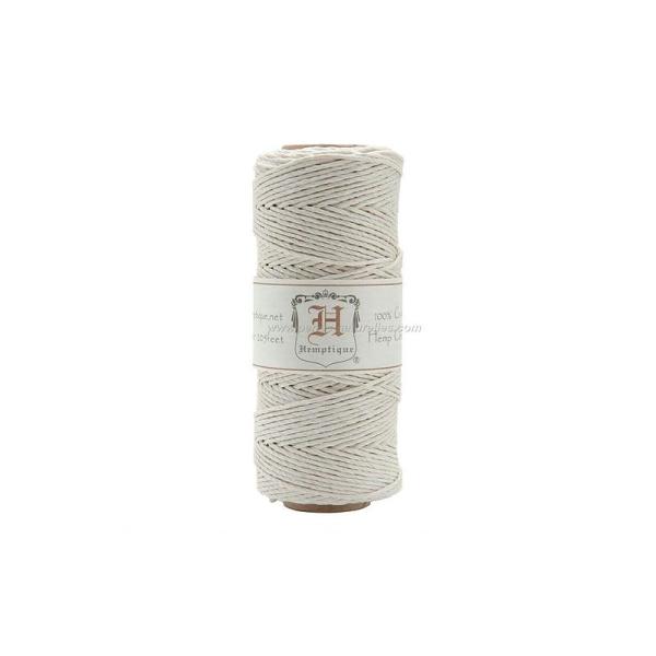 10m Fil de Chanvre 1.1mm - Blanc - Photo n°2