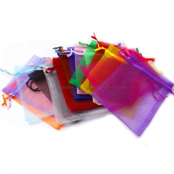 9x12cm - Multicolore - 10 ou 100 Pochettes Organza - Photo n°1