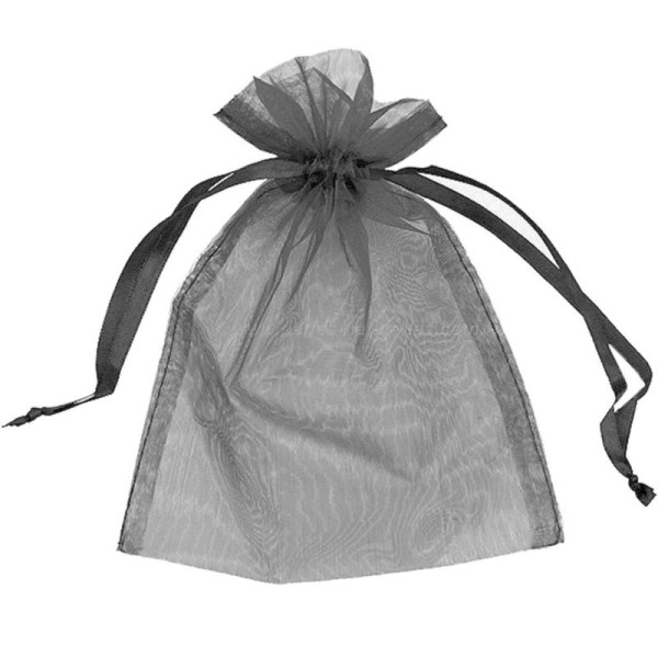 9x12cm - Noir - 10 ou 100 Pochettes Organza - Photo n°1